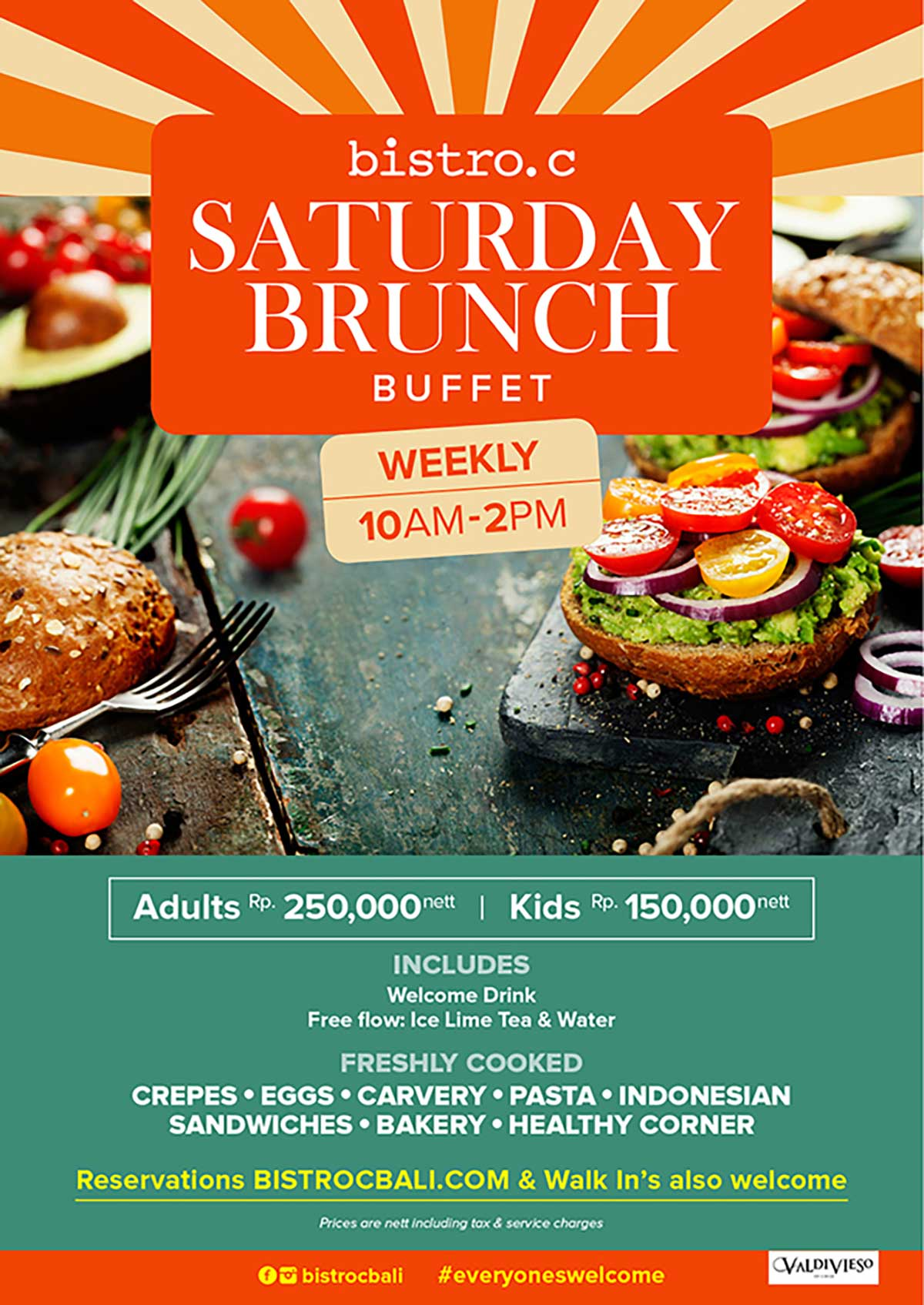 Saturday Brunch at Bitstro C Smoke House Bali